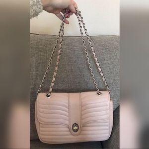 Express Quilted Blush Convertible Shoulder Bag